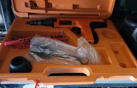 RAMSET RED HEAD NAIL GUN, W/ CASE