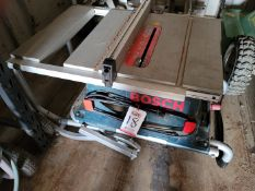 "LOT - BOSCH 10"" TABLE SAW, W/ TS2000 TABLE SAW PORTABLE STAND"