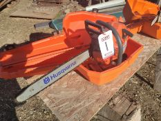 "HUSQVARNA CHAIN SAW, MODEL 51, W/ CASE, AIR INJECTION, 20"" BAR, SPARE CHANE"