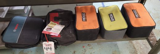 LOT - (5) CLOTH TOOL BAGS/ZIPPERED TOOL POUCHES