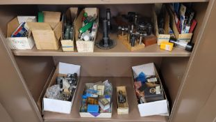 LOT - CONTENTS ONLY OF (2) SHELVES, TO INCLUDE: TAPS, SLOT CUTTERS, SPECIALTY CUTTERS