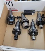 LOT - (5) 40-TAPER TOOL HOLDERS, SOME W/ TOOLS