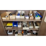 LOT - CONTENTS ONLY OF (3) SHELVES, TO INCLUDE: MILLING CUTTERS, E-Z BURR DEBURRING CUTTERS, ETC.