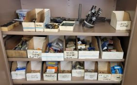 LOT - CONTENTS ONLY OF (3) SHELVES, TO INCLUDE: TAPS AND OTHER CUTTERS