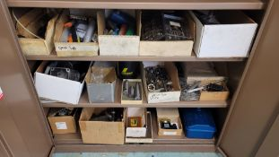 LOT - CONTENTS ONLY OF (3) SHELVES, TO INCLUDE: TAPS, ENDMILLS, DIES, ETC.