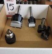 """LOT - CRITERION DBL202 AND DBL203 BORING HEADS, FUJI 1/2"""" CHUCK AND (2) INSERTION CUTTING TOOLS"""