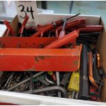 LOT - ALLEN WRENCHES/HEX KEYS, ALL SIZES
