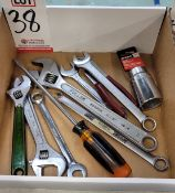 LOT - MISC WRENCHES, ETC.