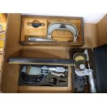 LOT - (3) ASSORTED MICROMETERS
