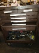 KENNEDY 6-DRAWER TOOL BOX, W/ CONTENTS