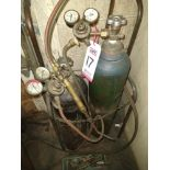 LOT - TORCH KIT, (2) TANKS AND ACCESSORIES