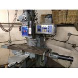 """SHIZUOKA TURRET VERTICAL MILLING MACHINE, MODEL AN-S, TABLE DISPLACEMENT 30"""" X 12"""""""