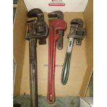 """LOT - (3) PIPE WRENCHES: 14"""", 18"""" AND 24"""""""