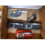 LOT - (5) ASSORTED MICROMETERS