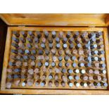 LOT - (2) SETS OF PIN GAGES, IN WOOD BOXES
