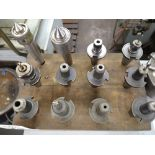 LOT - MACHINE TOOLING, HOLDERS, LIVE CENTERS