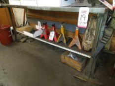 "LOT - (2) STEEL WORK BENCHES: (1) 60"" X 30"" AND (1) 72"" X 30"""