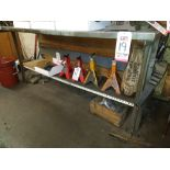 """LOT - (2) STEEL WORK BENCHES: (1) 60"""" X 30"""" AND (1) 72"""" X 30"""""""