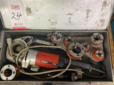"RIDGID MODEL 600 ELECTRIC PIPE THREADER, W/ ?"", ¼"", ?"", ½"", ¾"", 1"", 1-¼"" DIES"