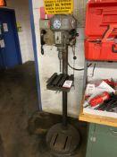 "WALKER TURNER 15"" PEDESTAL DRILL PRESS, MODEL 1200, S/N 12-4142"