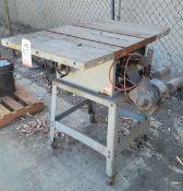 """DELTA 10"""" TABLE SAW, CAT. NO. 34-444, 1.5 HP"""