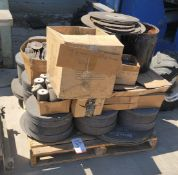 """LOT - PALLET OF ABRASIVE CUTTING AND GRINDING WHEELS, TOO MANY SIZES TO LIST UP TO 24"""" DIA"""
