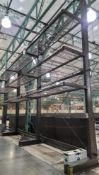 LOT - (3) 12' SECTIONS OF CANTILEVER PALLET RACK, 1-SIDED, 20' HT, WIRE DECKING