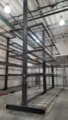 LOT - (2) 12' SECTIONS OF CANTILEVER PALLET RACK, 2-SIDED, 20' HT, WIRE DECKING