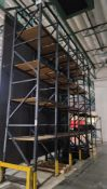 "LOT - (5) SECTIONS OF PALLET RACK, 45"" BEAMS, 20' UPRIGHTS, 3/4"" PARTICLE BOARD DECKING (SEVERAL"