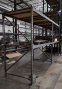 """LOT - (2) SECTIONS LIGHT DUTY PALLET RACK, 93"""" BEAMS, 8' UPRIGHTS, 5/8"""" PARTICLE BOARD DECKING"""
