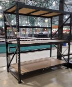 """LOT - (1) SECTION LIGHT DUTY PALLET RACK, 93"""" BEAMS, 8' UPRIGHTS, 5/8"""" PARTICLE BOARD DECKING"""