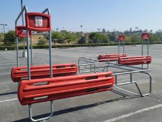 LOT - (3) OUTDOOR SHOPPING CART CORRALS