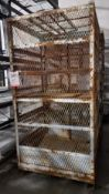 STEEL SECURITY CAGE, 4' X 4' X 7-1/2' HT