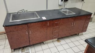 LOT - (3) PIECES MISC RESTAURANT SINK BASE CABINETS