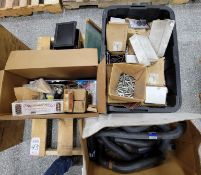 LOT - PALLET OF MISC PARTS: RADIATOR HOSES, BOLTS, ETC.