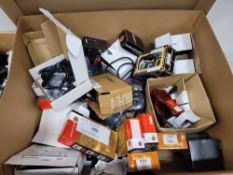 LOT - GAYLORD BOX OF AUTOMOTIVE ELECTRONICS AND TEST EQUIPMENT, G-ANALYST VEHICLE DYNAMICS
