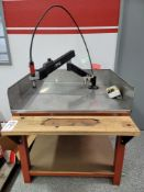 "FLEX ARM PNEUMATIC TAPPING ARM, W/ 42"" X 36"" TABLE"