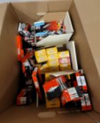 LOT - LARGE BOX OF OLD SPARK PLUGS