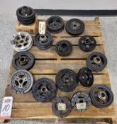 LOT - STOCK CRANK PULLEYS REMOVED FROM MISC VEHICLES