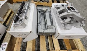 LOT - (1) CYLINDER HEAD AND (1) INTAKE MANIFOLD