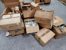 LOT - PALLET OF RTV GASKET-IN-A-TUBE, PONTIAC 4-CYLINDER COVERS & VARIOUS EDELBROCK ITEMS