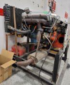 MOPAR 400 V-8 ENGINE, LESS CARBURETOR (WAS USED TO TEST CARBURETORS), ENGINE HAS BEEN DESCRIBED AS
