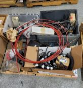 LOT - WIRE HARNESS, AC DELCO STARTER, PLUG WIRES AND OTHER MISC AUTO PARTS