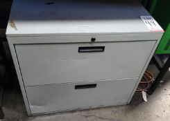 2-DRAWER LATERAL FILE CABINET, EMPTY