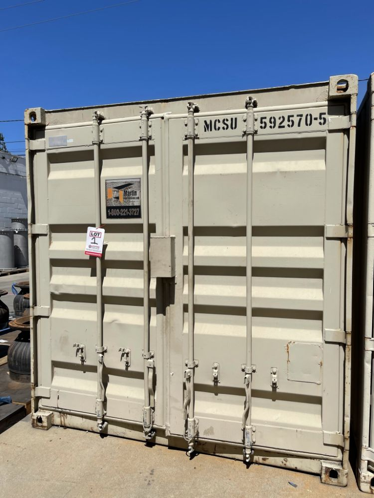 (3) VERY NICE 40' STORAGE CONTAINERS, TURBINE ROOF AIR VENTS, (1) WITH POWERED LIGHTS