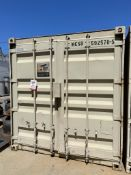 40' STORAGE CONTAINER, (2) TURBINE ROOF AIR VENTS, (5) POWERED LIGHTS, GREAT CONDITION
