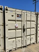40' STORAGE CONTAINERS, (2) TURBINE ROOF AIR VENTS