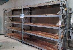 LOT - (2) SECTIONS OF PALLET RACK, 8' BEAMS, 8' UPRIGHTS