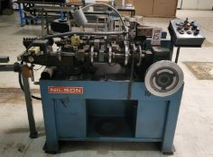 """NILSON S-0 FOURSLIDE WIRE FORMING MACHINE, CAPACITY 1/16"""" BACK 3/4"""", S/N 105551"""