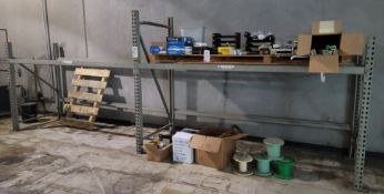 """LOT - (2) SECTIONS OF PALLET RACK, 9' BEAMS, UPRIGHTS ARE 64"""" & 80"""", NO DECKING, SEE PHOTOS,"""